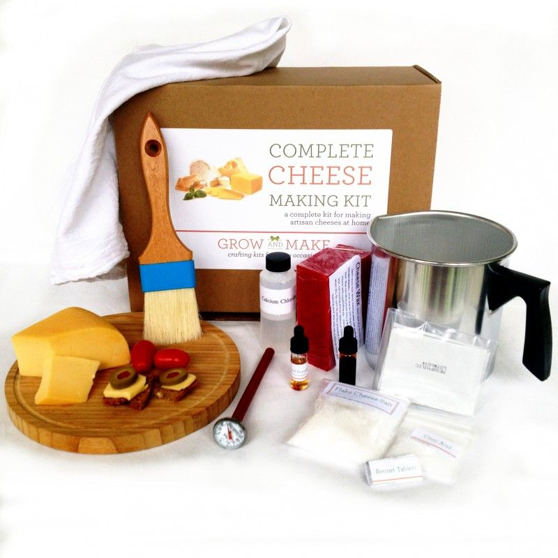 Complete Cheese Making Kit - Make goat chevre, paneer, queso blanco, ricotta, mozzerella, colby, monterey jack and gouda