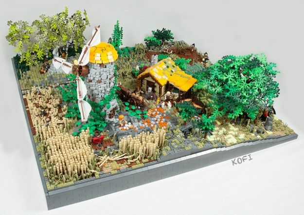 medieval windmill Lego Pinterest Windmill, Lego and Lego creations
