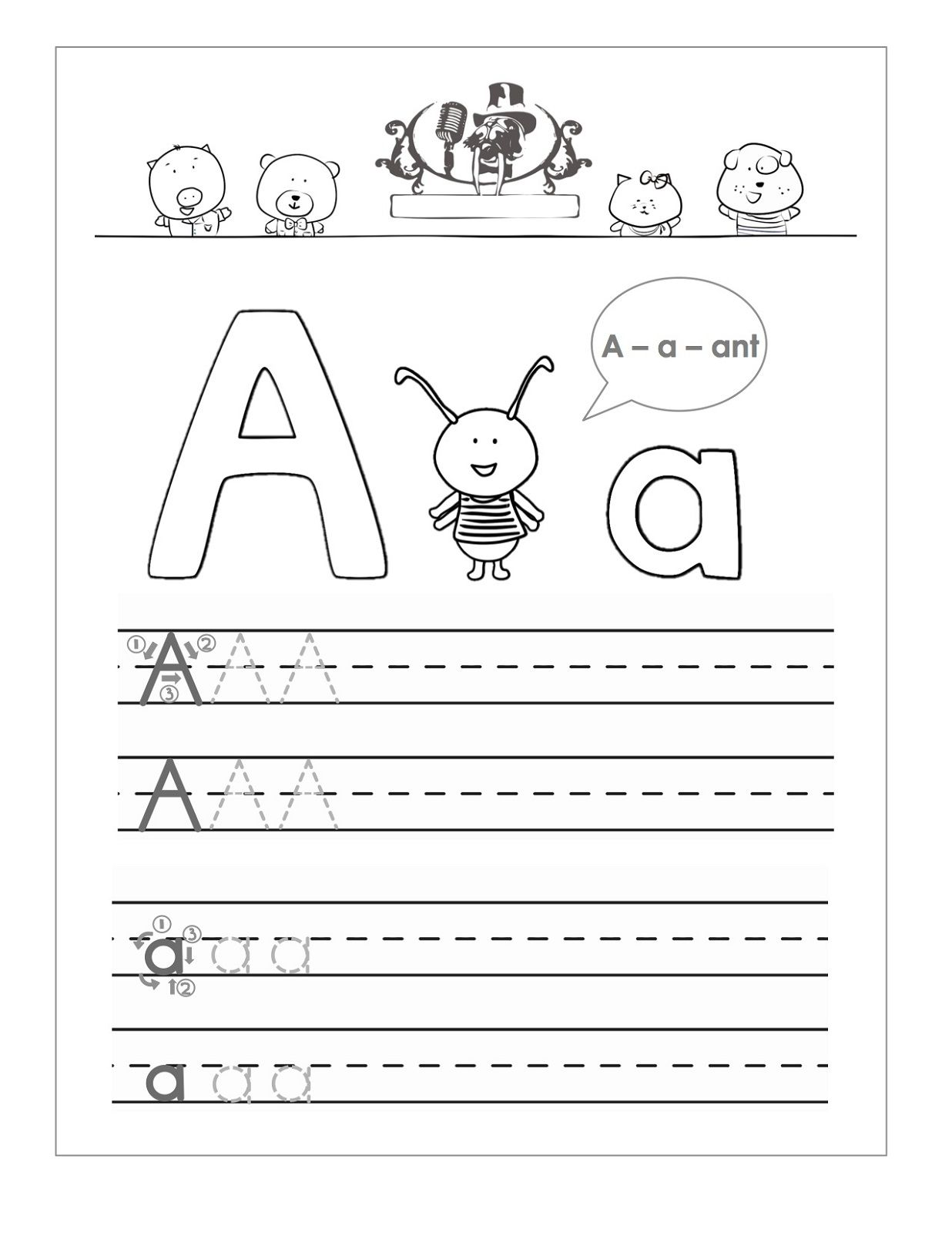 trace the letter a for kids | Artie | Pinterest