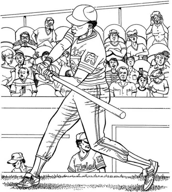 Major League Baseball Game Coloring Page Baseball