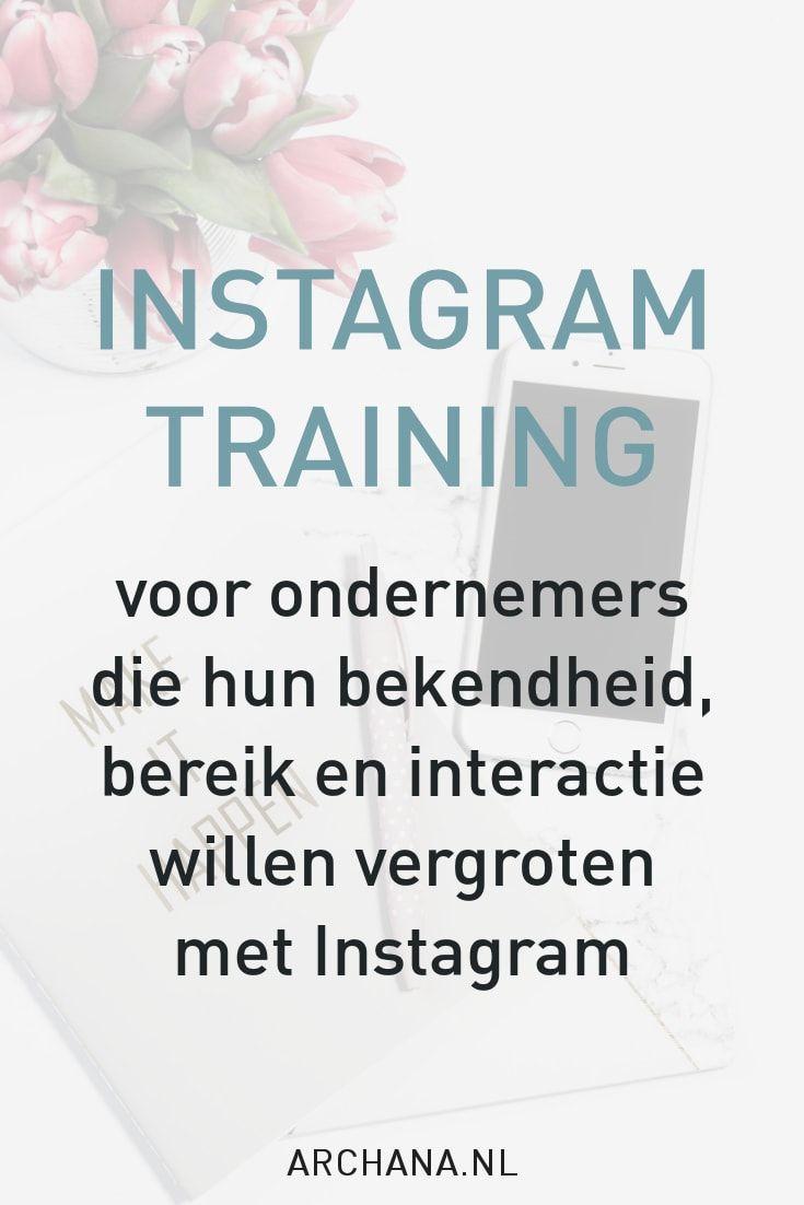 Instagram Training met Archana Haarnack | ARCHANA.NL #vlaardingen #instagrammarketing