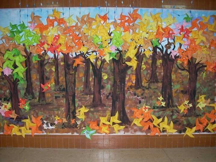 Resultado De Imagen De Mural Otono Educacion Infantil Tardor