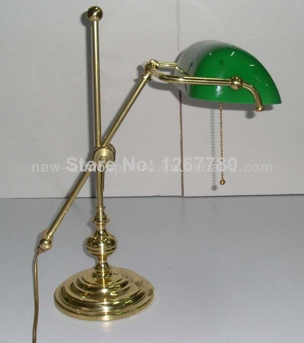 Green Glass Shade Gold Body Bank Lamp Banker Lamp Table Lamp Gold Desk Lamp 149 89 Bankers Lamp Desk Lamp Lamp