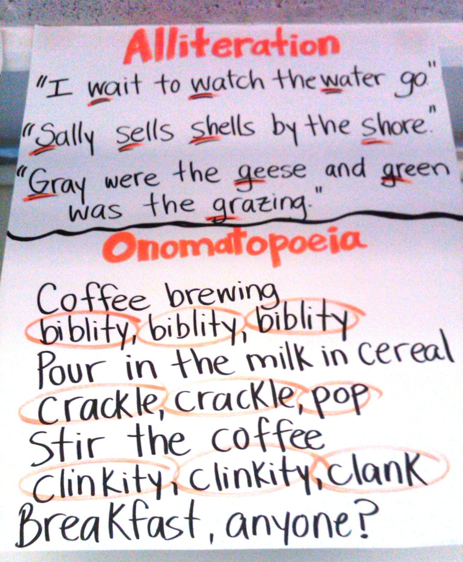 Onomatopoeia Poem Examples