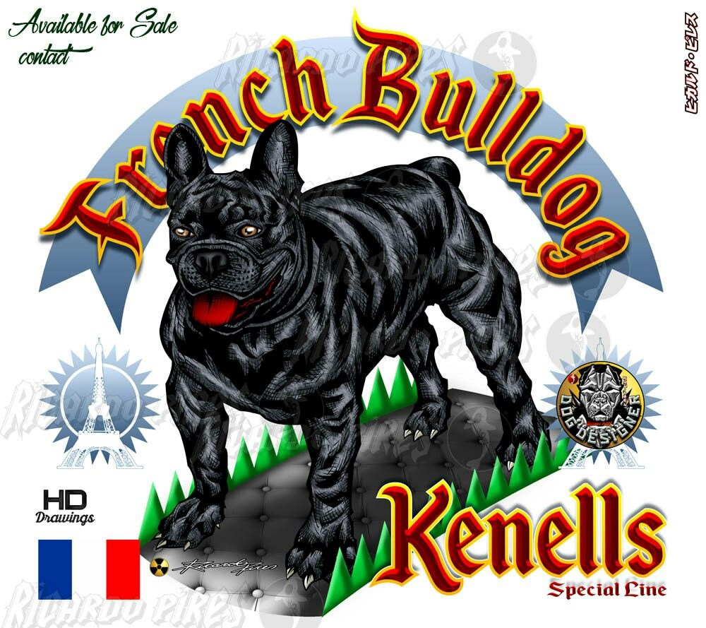 French Bulldog Kennels Logo Available For Sale