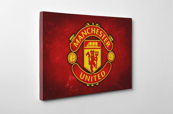 Man Utd Canvas And Print Handmade Wall Art Sports Decoration Gift Manchester United Football Club Mufc Sports Wall Art Handmade Wall Art Sports Decorations