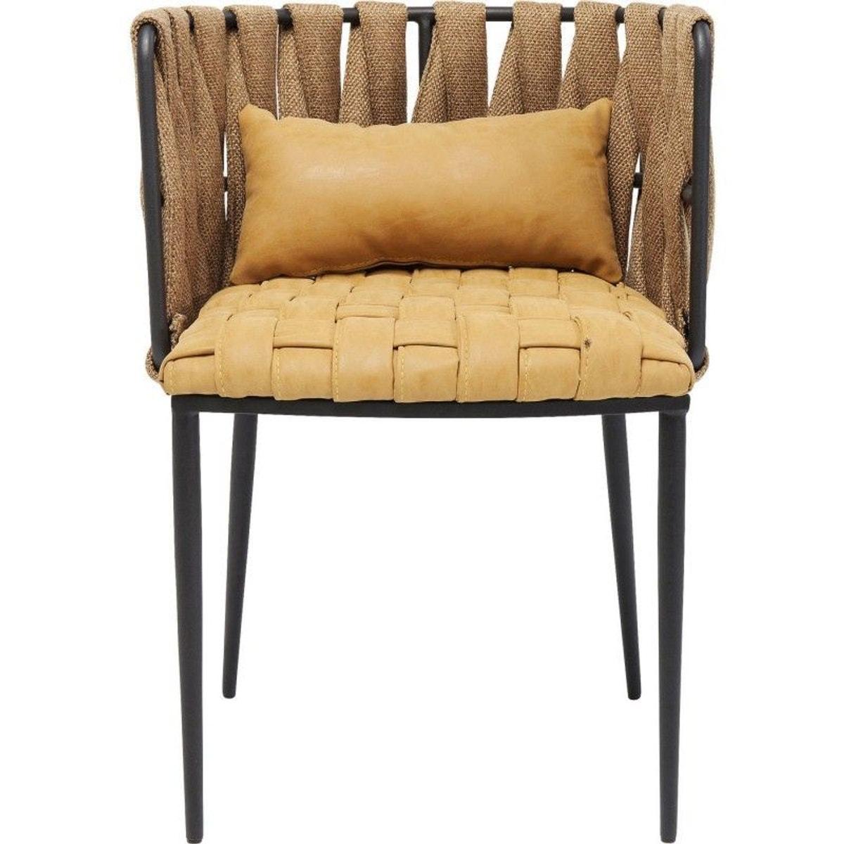 Chaise Avec Accoudoirs Cheerio Jaune Kare Design Taille Taille Unique Fauteuil Confortable Chaises Jaunes Chaise Accoudoir