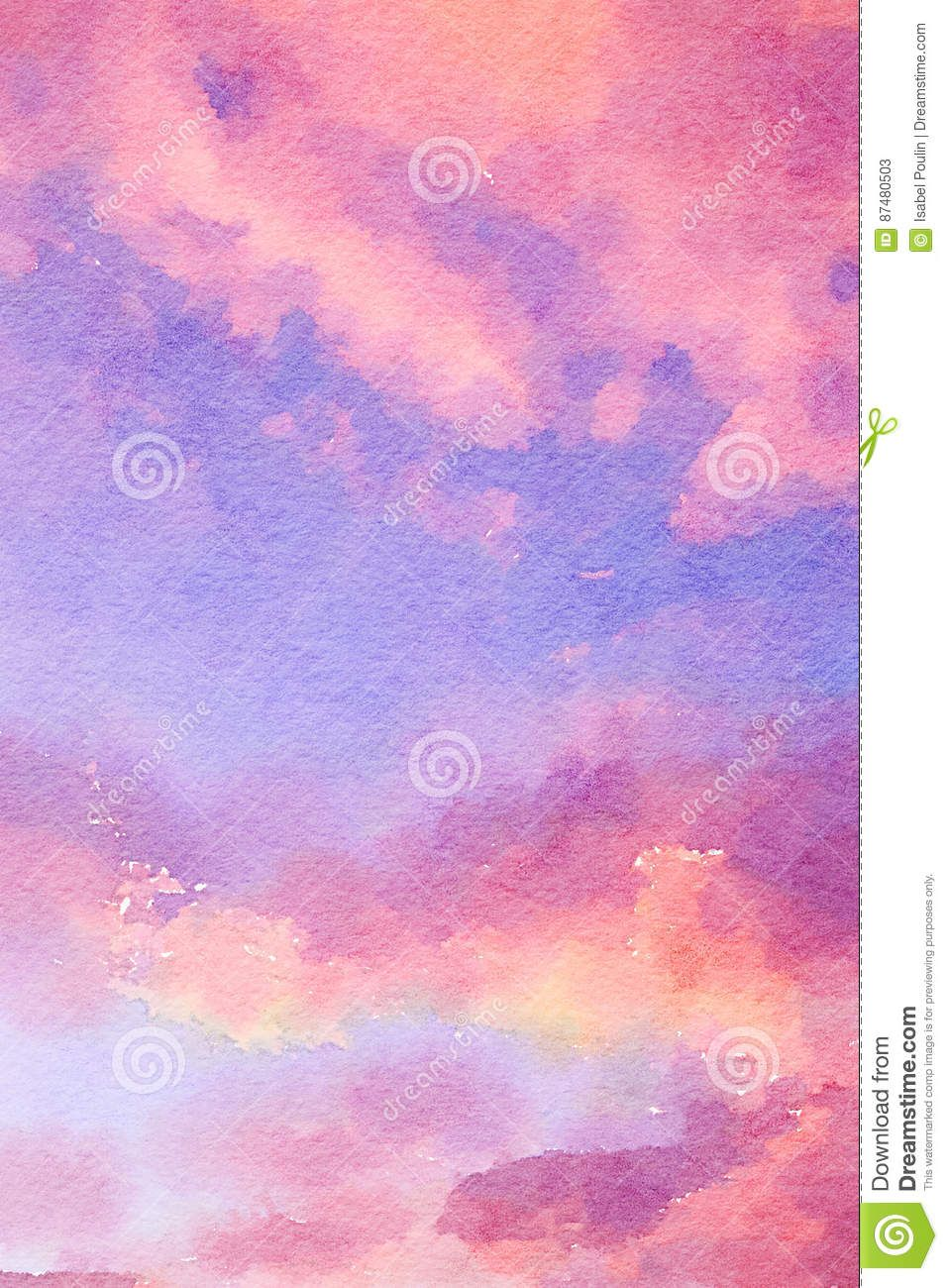 Pink And Purple Watercolor Background Stock Illustration