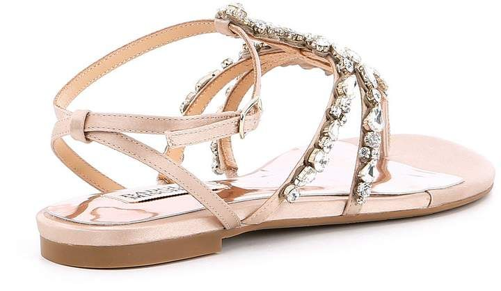 1fc5fcdd60ca50 Badgley Mischka Hampden Satin Jeweled Ankle Strap Sandals  Hampden Satin  Badgley