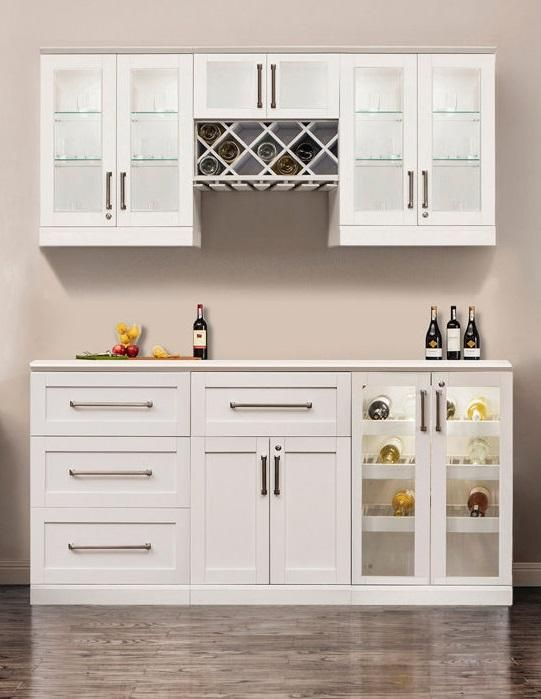 Home Wine Bar 7 Piece Cabinetry Set By Newage Products Home