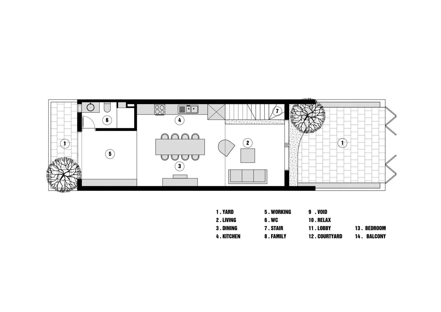 Gallery Of 5x12 House Toob Studio 31 Narrow House Plans Home Design Plan My House Plans