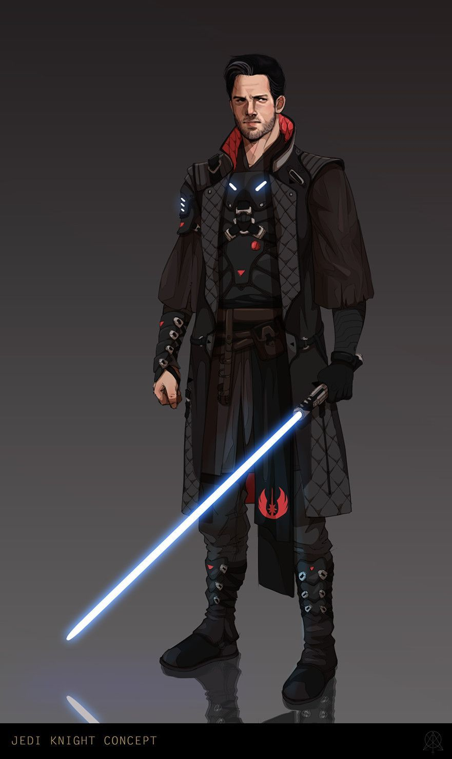 A Wandering Swordsman His Blade For Hire Jedi Star Wars