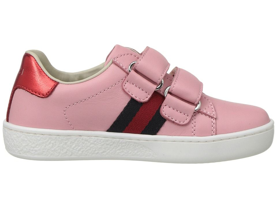 e169c1ad757 Gucci Kids New Ace V.L. Sneakers (Toddler) Girls Shoes Red Blue ...