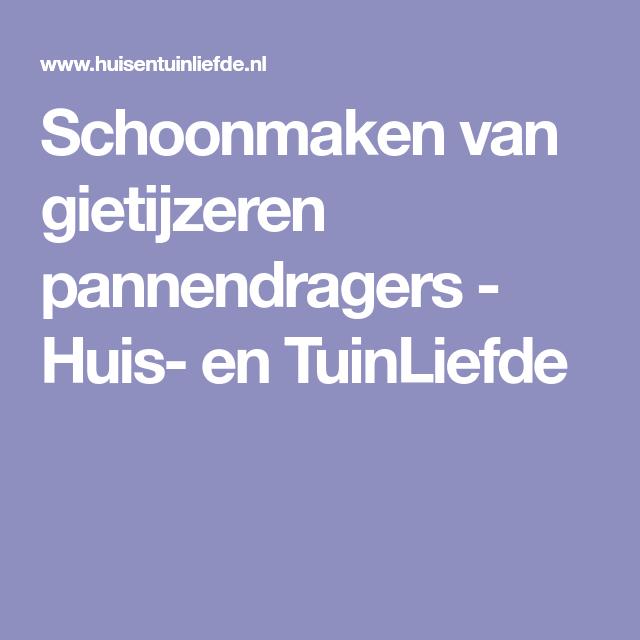 Schoonmaken van gietijzeren pannendragers - Huis- en TuinLiefde