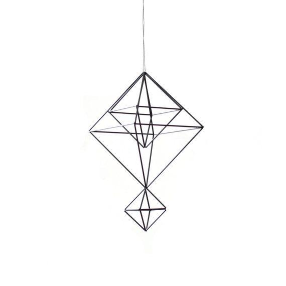 himmeli nr 6 moderne mobile h ngen geometrische von. Black Bedroom Furniture Sets. Home Design Ideas