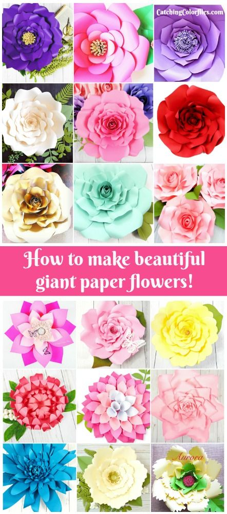 Paper flowers make large and small paper flowers templates large paper flower templates diy paper flowers printable flower pattern freebies and more mightylinksfo