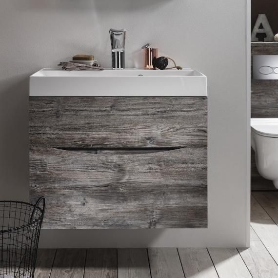 Bauhaus Glide Ii Driftwood 70 Vanity Unit Basin Bathroom Furniturebathroom