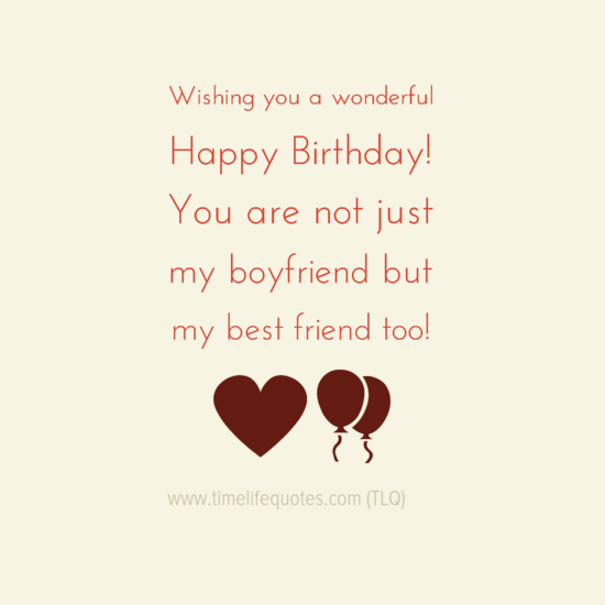 Wonderful Happy Birthday Quotes For Boyfriend