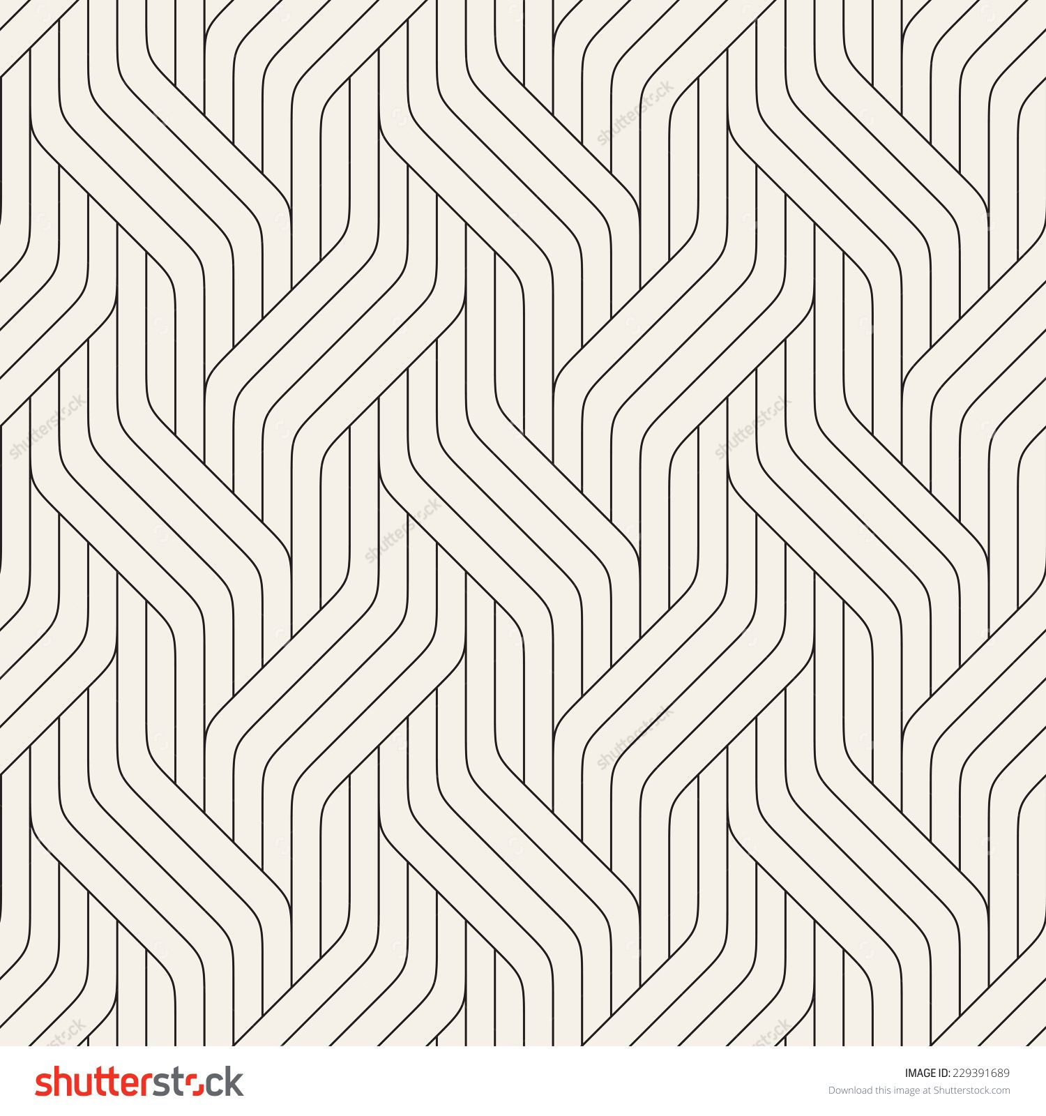 Vector Seamless Pattern Modern Stylish Texture Geometric Striped Ornament Monochrome Linear Braids Geometry Pattern Seamless Patterns Graphic Patterns