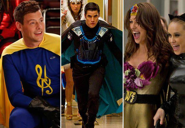 Glee's Sexiest Superheroes! Blaine, Marley, and Finn in