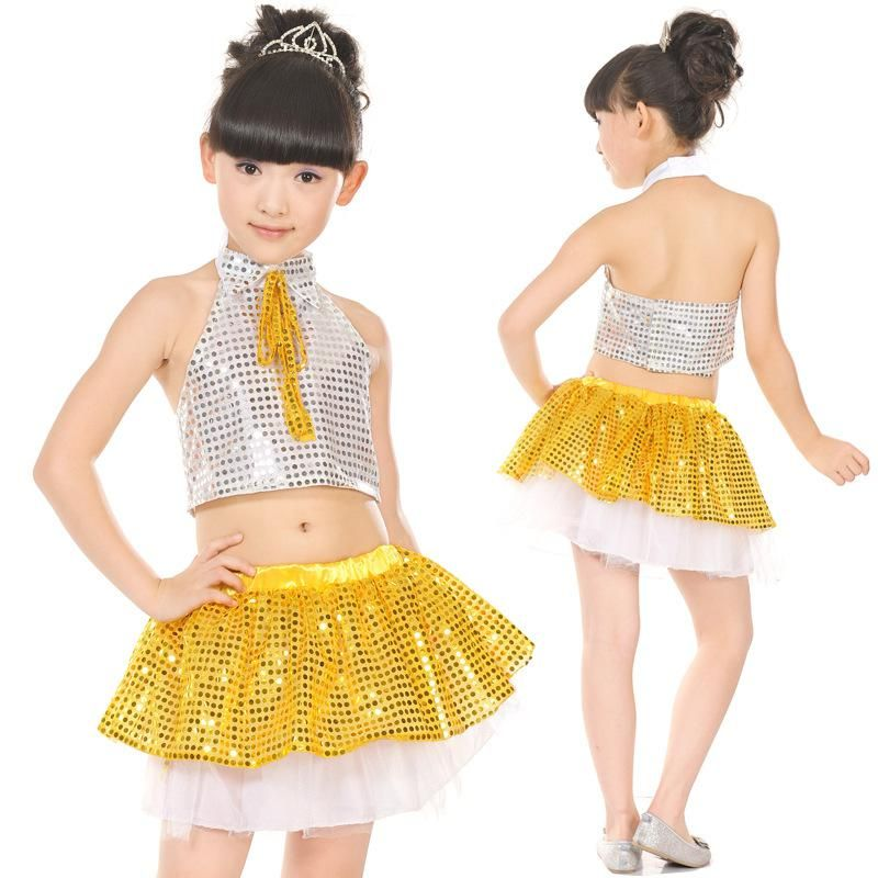 e735514e21538 Sequins Latin Jazz Dance Dress for Children Practice Performance Ballroom  Dance Leotards Girls Tango Dancing Dress Costumes L148.