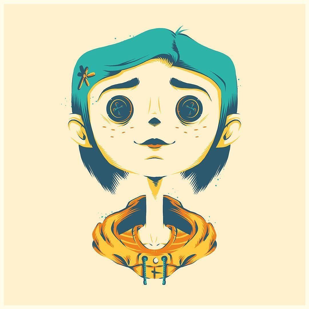 Coraline Personajes Ilustracion Ilustraciones Dibujos