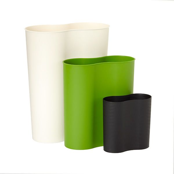 black eco cocoon trash can products kitchen trash cans container store recycling bins. Black Bedroom Furniture Sets. Home Design Ideas