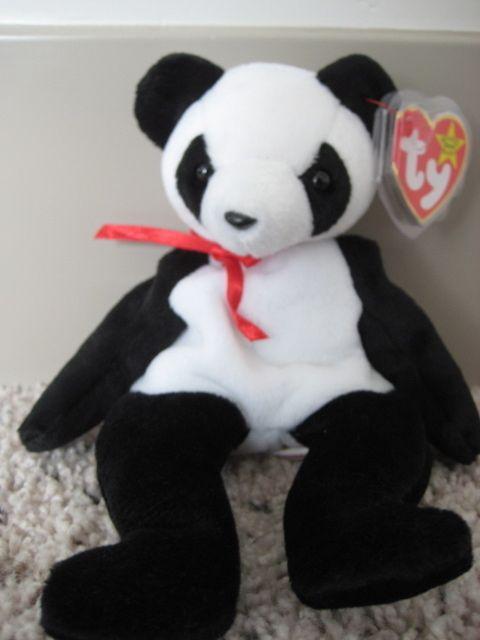 TY Beanie Baby Fortune Panda Teddy Bear Retired MWMT - Retired  Edhardylvr 7aee47c850fc