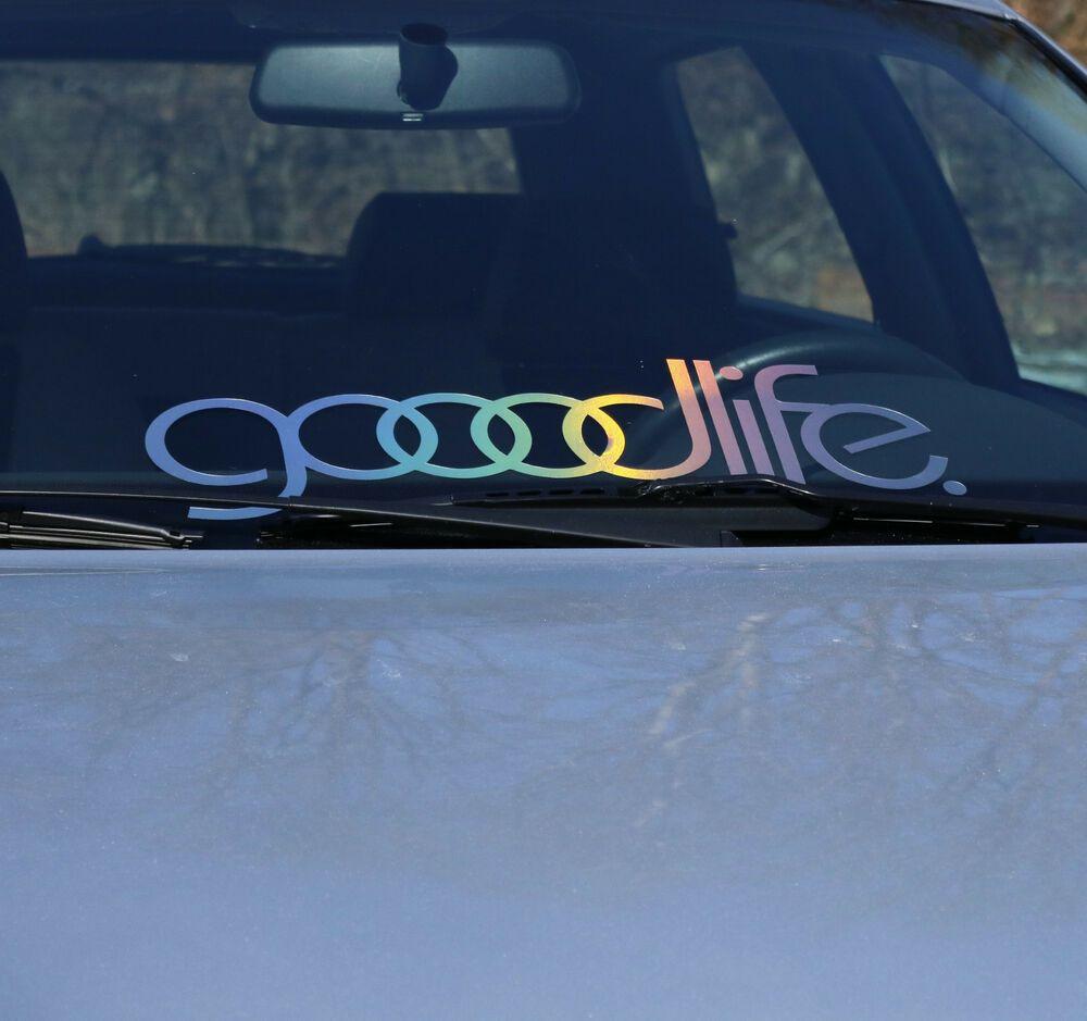 Goodlife Frontscheibenaufkleber Auto Oilslick Farbspiel