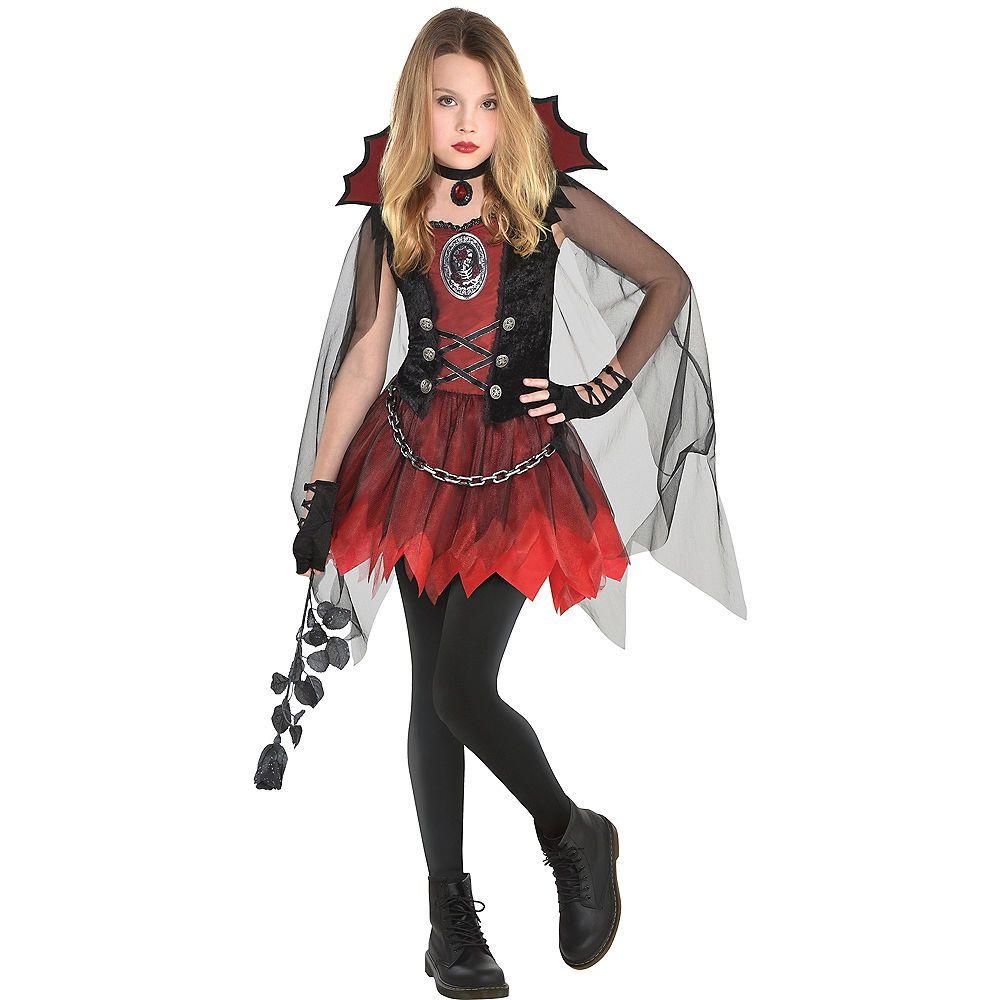 Girls Dark Vampire Costume Girls Vampire Costume Vampire Halloween Costume Halloween Costumes For Girls