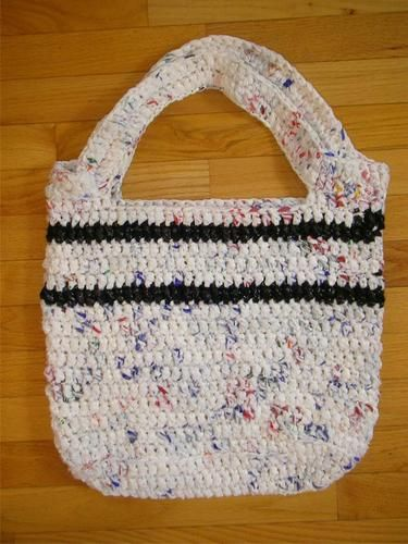 Crocheted Plastic Bags Tote!