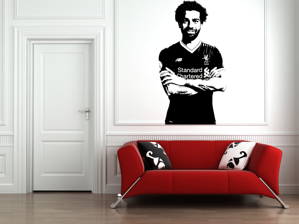 Mohamed Salah Egyptian Egypt Football Player Decal Wall Sticker Picture Poster