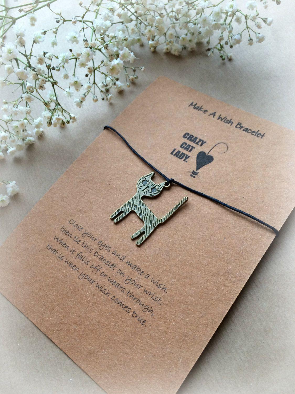 Make a wish bracelet charm bracelet crazy cat lady by