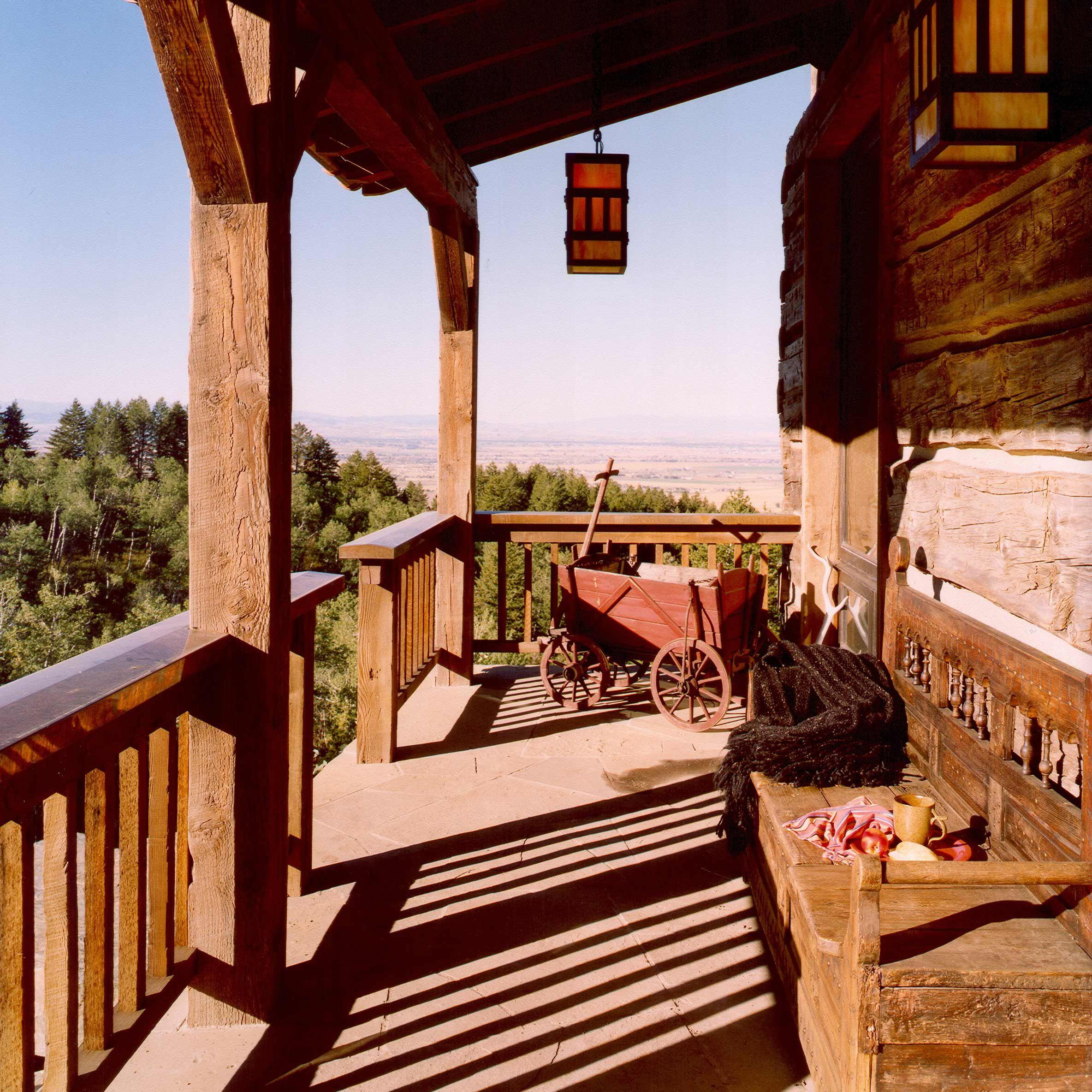 Running elk ranch guest cabin outdoor lighting pinterest guest outdoor lighting aloadofball Choice Image