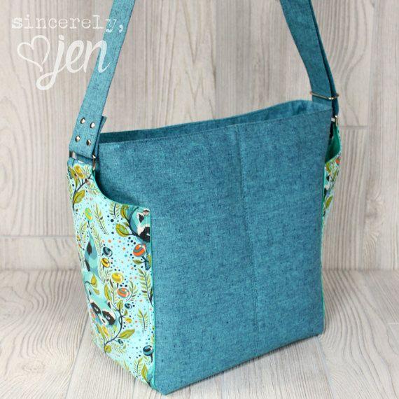 Ellen\'s Esplanade Easy Street Cross Body Bag Sewing Pattern | Bolsos ...