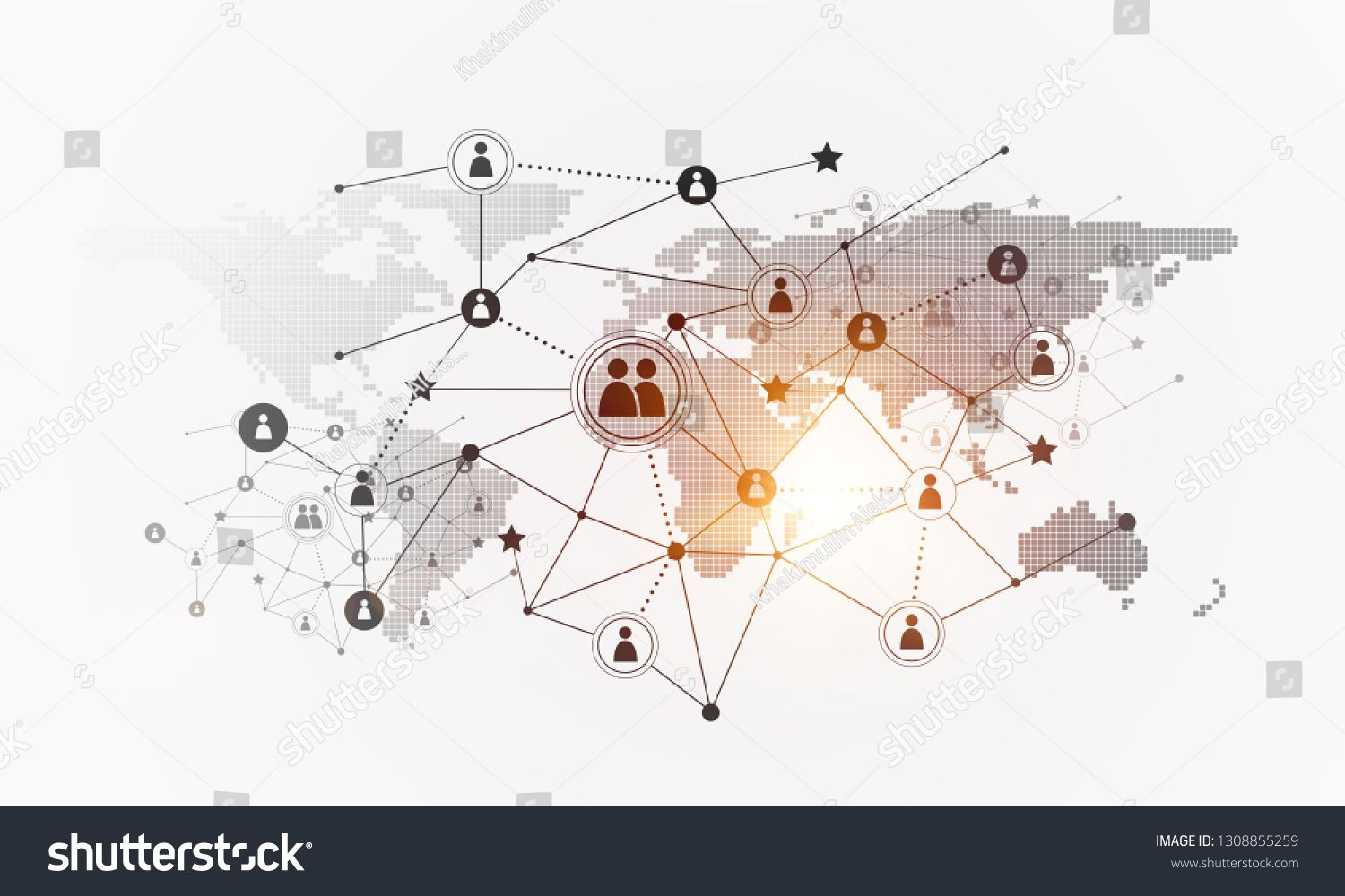 Background Image With Social Connection And Networking Concept On White Wall Ad Sponsored Social Connecti In 2020 White Walls Snapchat Template Background Images