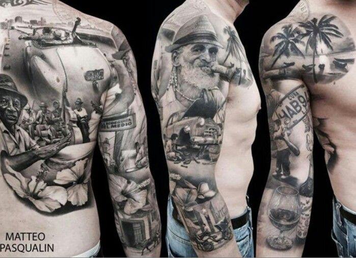 Story Sleeve Tattoo: Sleeve And Half Back Story Piece