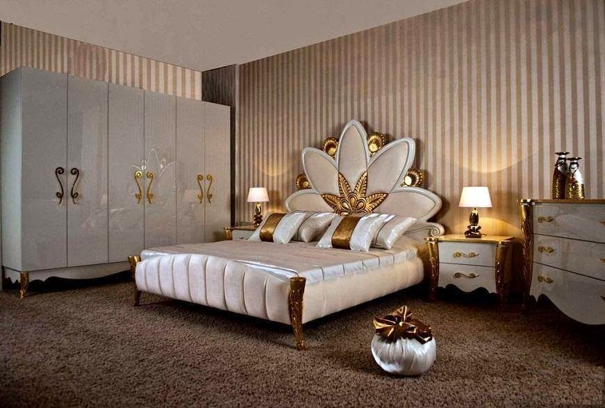 Royal gold in white bedroom furniture set ~ Stylishly Home ...