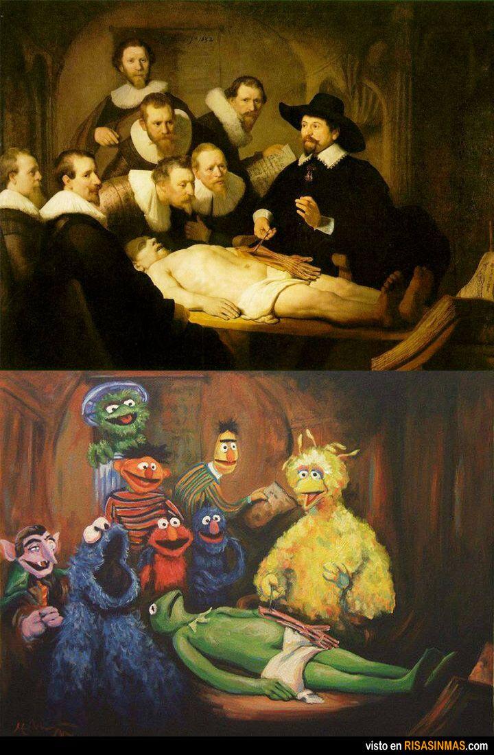 Clase de anatomía. De Rembrandt a Barrio Sésamo.   Humor del ...
