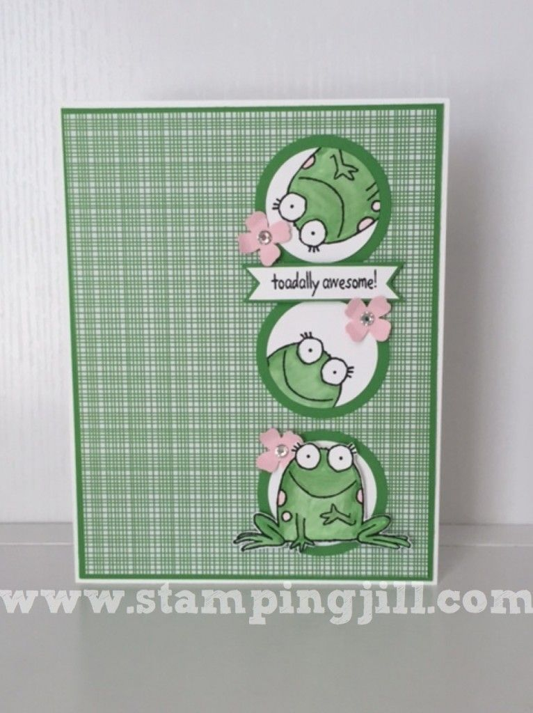 Toadally Awesome! Stamped cards, Cards handmade, Stampin