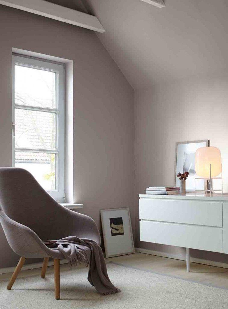 Graue Wand Im Wohnzimmer Alpina Feine Farben No. 03 Poesie Der Stille