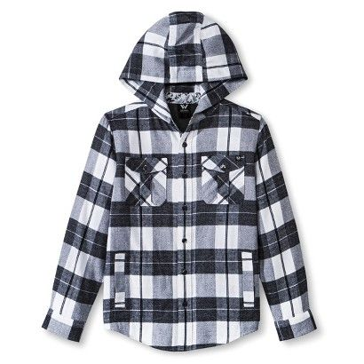 Shaun White Boys' Plaid Button Down Shirt