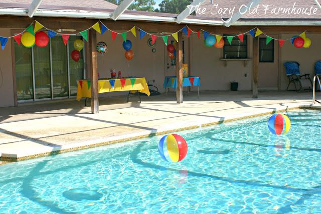 Pool Party Decoration Ideas at the end of the evening create a lighting display as part of your pool pool party decorationsparty themesparty Pool Party Decorations