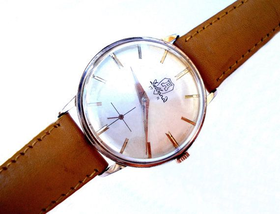0502cf46bd99 Vintage Watch Swiss DELBANA Classic 35mm Men 1950c Case Micron Gold ...