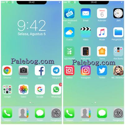Download Tema Iphone X Berponi Untuk Oppo A37 Palebog Iphone Aplikasi Smartphone