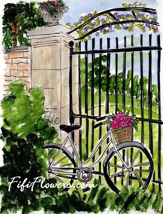 Puerta de jardín bicicleta