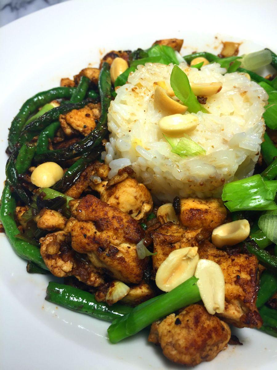 Blue apron healthy meals - Blue Apron Vegetarian Dinners Night Two Szechuan Tofu Long Beans