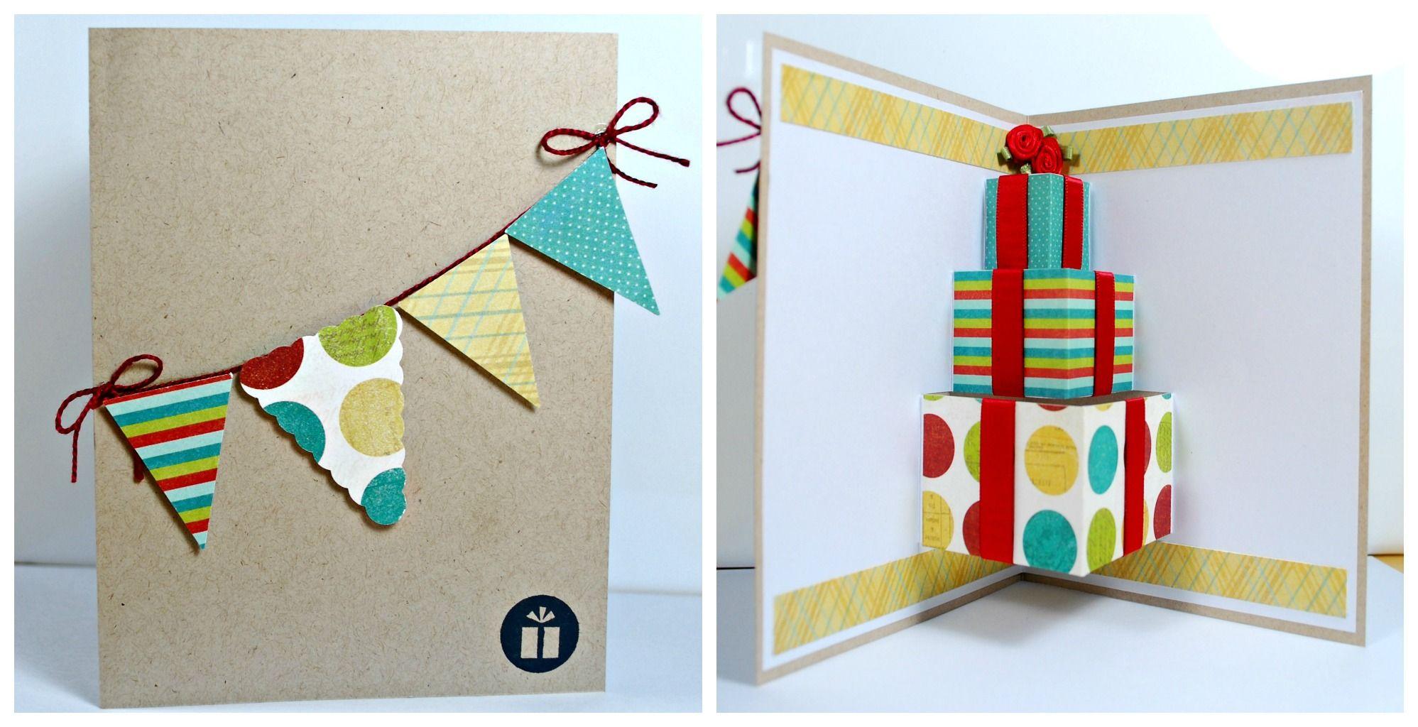 Объемные открытки на день рождения как делать