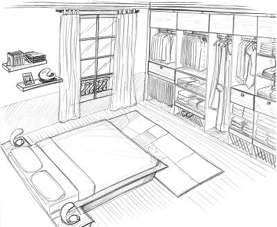 Une Chambre Dessin : Comment dessiner une chambre ? Pourquoi ...