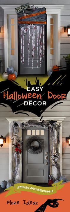 Decorate your front door for trick or treaters this Halloween These - michaels halloween decorations